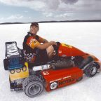 Kart at Bonneville Salt Flats