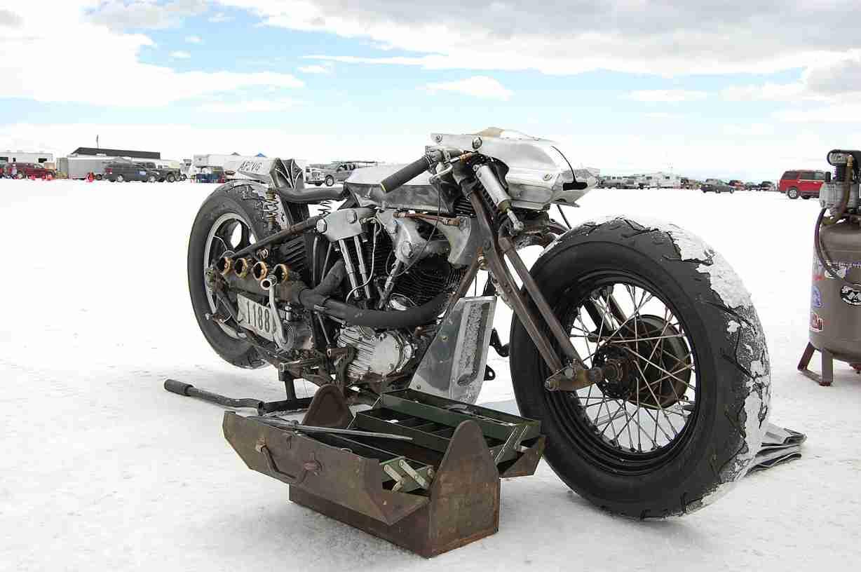 bike on salt
