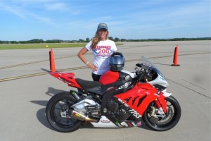Valerie Thompson 200 mph club